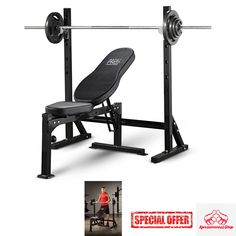 WEIGHT BENCH Lift Press Exercise Weights Fitness Workout Gear Home Equipment  NEW #Marcy Weight Benches