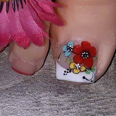 Hot Nails, Toe Nail Art, Flower Nails, Pedicure, Nail Art Designs, Make Up, Tattoos, Beauty, Margarita