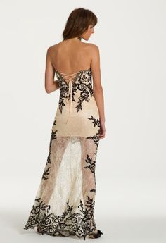 Strapless Lace High-Low Dress from Camille La Vie and Group USA modeled by Aliana Lohan #homecomingdresses #dresses