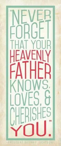Heavenly Father <3 me