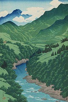 "Japanese Art Print ""Yanagawa River (Koshu Yanagawa)"" from the Series ""Souvenirs of Travels (2nd Series)"" by Kawase Hasui. Shin Hanga and Art Reproductions http://www.amazon.com/dp/B00ZMWBC12/ref=cm_sw_r_pi_dp_whUuwb1JPHSVE"