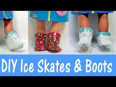 Duct tape crafts: How to make ice skates and boots with duct tape for 18 inch dolls.