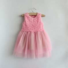 2,3,4,5,6T baby clothes baby girl's spring summer dress Baby girl clothes skirt pink dress. $18.99, via Etsy.