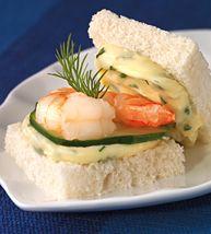 #Saint André, Cucumber, Shrimp & Dill Mini Sandwiches meets the mark on all accounts!