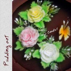 #edible #flower #rose #puddingart