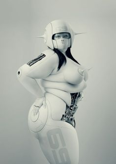 Plus size robot girl- something about it....