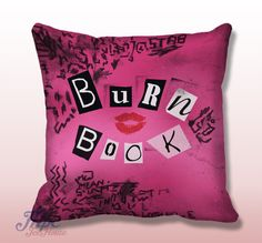 Like and Share if you want this  Burn Book Mean Girl Cover Book Throw Pillow     Burn Book Mean Girl Cover Book Throw Pillow.  Fine quality USA handmade decorative throw pillow cover. Front and back of pillow cover are same. Hidden zipper closure. This pillow cover comes in indoor or outdoor fabric in the size of your choice. Indoor Throw Pillow Covers are made from 100% spun polyester poplin fabric, while the Outdoor Throw Pillow Covers are made ...    Tag a friend who would love this…