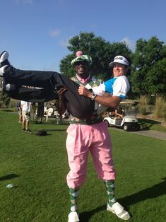 Shaquille O'Neal and Bubba Watson