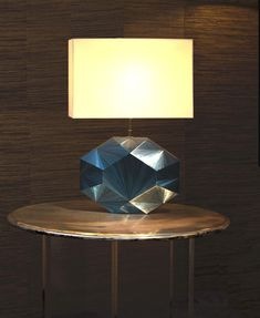 """A custom made Straw Marquetry """"Eloane"""" Lamp. It is possible to change the straw color, the bulb holder color and/or the cord color"""
