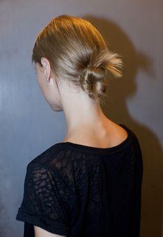 New York Fashion Week S/S 2013 Yigal Azrouel. Hair by Bb. Stylist James Pecis #fashionweek #hair #bumble #fashion