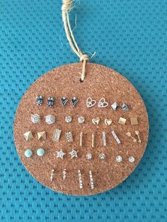 Stud Earring Holder Cork Coaster and Twine - find jewelry store, jewelry factory, jewelry online shop *sponsored https://www.pinterest.com/jewelry_yes/ https://www.pinterest.com/explore/jewellery/ https://www.pinterest.com/jewelry_yes/jewelry/ https://www.therealreal.com/fine-jewelry-and-watches