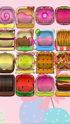 iPhone 5 wallpaper food boxes burger fries watermelon icecream margarita chocolate candy drink pizza cake