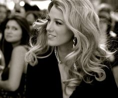 Blake Lively with pretty, loose curls.