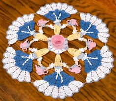 Alices Tea Party Crinoline Circle Doily (pattern for sale)