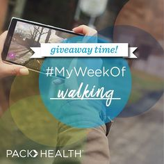 It's Giveaway time! This week, it's all about walking!  Challenge: Show us where you're walking this week--it could be a park or a trail. And we'll be doing the same! What you win: a fitness band to track your physical activity