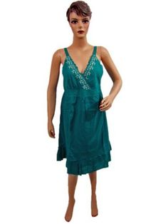 Womens Bohemian Clothing Teal Green Spaghetti Sundress V-neck Elastic Wiast Dress Mogul Interior, http://www.amazon.com/gp/product/B00920F7MU/ref=cm_sw_r_pi_alp_PIroqb01ADAYX