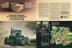 1982 John Deere 8850 Farm Tractor 2 Page Magazine Ad   eBay