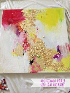 LiveLoveDIY: How To Make Gold Leaf Art (Round Two)!