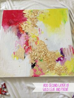 Leaf paintings, Gold leaf and Painting abstract