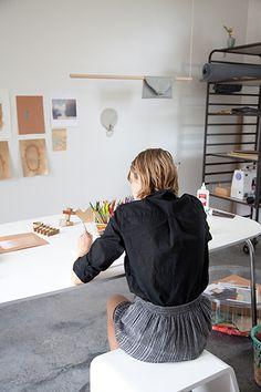studio of designer Alyson Fox  - Home Tour | Camille Styles