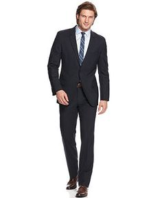 Hugo Boss Suit, BOSS Navy Solid Slim Fit - Mens Suits & Suit Separates - Macy's