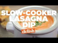 Four Cheese Slow Cooker Lasagna Dip - http://www.cheesecutterscorner.com/four-cheese-slow-cooker-lasagna-dip/