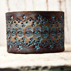 Gypsy Boho Chic Leather Cuff Bracelet