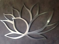 Items similar to Lotus Flower Metal Wall Art - Lotus Metal Art - Home Decor - Metal Art - Wall Art - Large Metal Wall Art -Silver Wall Art - Art Above Bed on Etsy