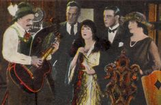 """If you love old vintage Hollywood you'll enjoy this card featuring Rudolph Valentino and Gloria Swanson from their heyday in 1927. On the front it says, """"Rudolph Valentino, Gloria Swanson & Ellinor Glyn Paramount Studios Hollywood"""". Please see the close up of the back section to read the details. This is a genuine vintage postcard and not a reproduction. $8.50"""