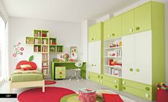 Red Green Funny Kids Bedroom Design Home Design Furniture And 8680 ...
