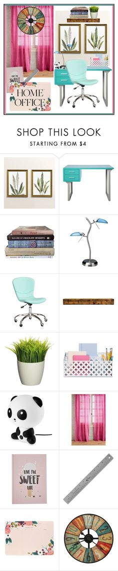 """Home Office II"" by samy-lady on Polyvore featuring interior, interiors, interior design, hogar, home decor, interior decorating, Ballard Designs, I Love Living, Lite Source y PBteen"