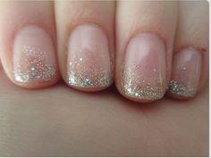 Gelish glitter nails