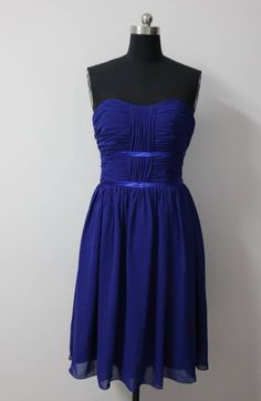A-line Knee-length Sweetheart Reds #Bridesmaid #Dress in Royal Blue Style Code: 02651 $79