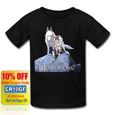 Princess Mononoke Men's Black T-Shirt Sizes:M, L, XL,