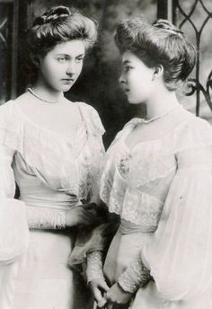 Princess Patricia (Patsy, later Lady Patricia Ramsay) and Margaret (Daisy, later Crown Princess of Sweden) of Connaught-granddaughters of Queen Victoria