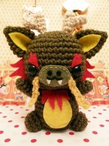 cute little Dragon amigurumi to celebrate the Year of the Dragon in the Asian lunar calendar.  From cuteamigurumi.com