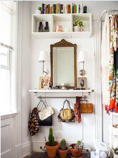 interior, hallway, simple, white, storage, shelving