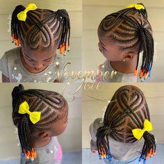 Booking Link In Bio! Lil Girl Hairstyles Braids, Toddler Braided Hairstyles, Toddler Braids, Girls Natural Hairstyles, Natural Hairstyles For Kids, Little Girl Braid Styles, Kid Braid Styles, Little Girl Braids, Hair Styles