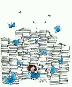 Books are wonderful. Making the time to read is a must. I Love Books, Good Books, Books To Read, My Books, Reading Art, I Love Reading, Reading Books, Illustrations, Illustration Art