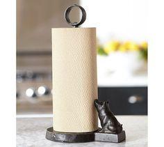 Vintage Blacksmith Pig Paper Towel Holder | Pottery Barn