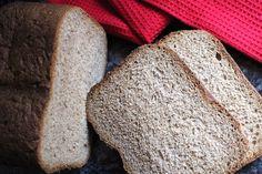 Whole Wheat Bread Machine Sandwich Bread: This simple whole wheat bread machine bread is delicious, and a perfect nutritious alternative to white flour sandwich bread.