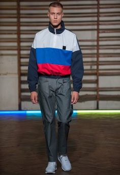Gosha Rubchinskiy revamps the garish nature of Soviet-era sportswear for Spring/Summer 2016 at Paris Fashion Week.