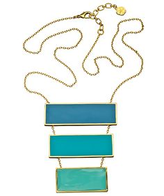 Not found of yellow metal.. but the concept's cute    Trina Turk Ocean Tonal Pendant Necklace