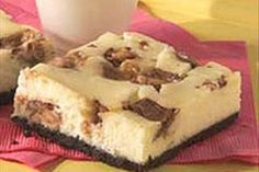 Candy Bar Cheesecake Squares (From Scratch)