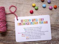 Geschenkanhänger - 10 x Danke Abschied Kita | Postkarten - ein Designerstück von Frieda-werkstattladen bei DaWanda