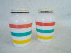 Vintage Fire King Salt and Pepper Shakers