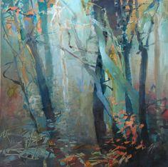 Late Autumn Tangle 2 watermedia on Yupo 12x12 Randall David Tipton