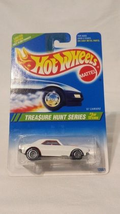 1994 Hot Wheels Treasure Hunt Series #3 of 12 '67 Chevy Camaro NOC #HotWheels #Chevrolet