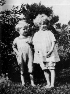 Young Marlon Brando and his sister