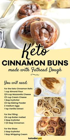 BEST Keto Cinnamon Rolls Recipe - Keto cinnamon rolls may just very well be the best low-carb breakfast ever. They have warm spiciness from the cinnamon, a satisfying chewy dough with sweet and thick icing. Cinnamon Roll Dough, Keto Cinnamon Rolls, Carbs In Alcohol, Low Carb Recipes, Snack Recipes, What Can I Eat, Ketogenic Diet For Beginners, Keto Meal Plan, Meal Prep